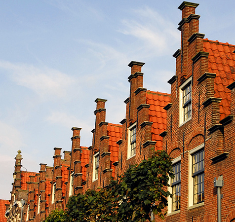 Gables in Haarlem - about 20 minutes from Amsterdam.