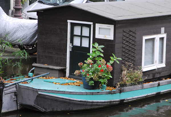 Houseboat garden - Amsterdam