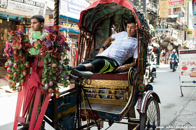 Siesta on a trishaw