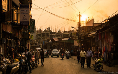 sunset over Thamel