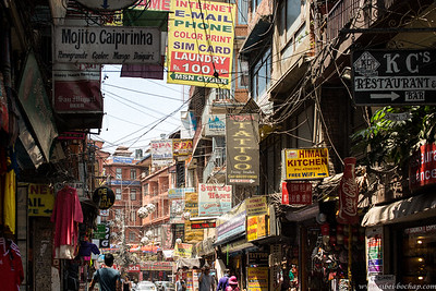 Thamel's packed to the brim with shops, hawkers and tourists