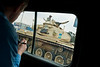 Mark captures a tank image while we were driving in downtown Cairo.