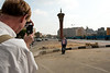Scott photographs Sharon in Tahrir Square.