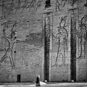 Local enters the Temple of Horus