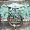 Koblenz: Deutsches Eck: Bollard lion face