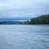 Rhine: Approaching bridge at Weißenthurm