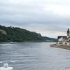 Rhine: Approaching church at Sankt Sebastian
