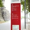 Koblenz: Deutsches Eck: Signpost