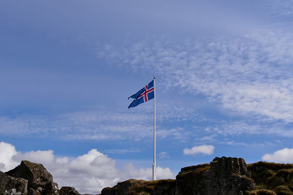 Icelandic Flag at  Thingvellir