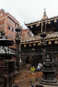 Praying at Shree Gha