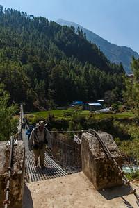 Crossing another suspension bridge