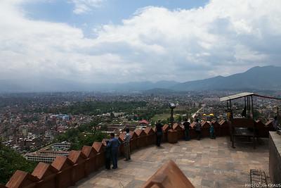 Swayambhunath Montains and City