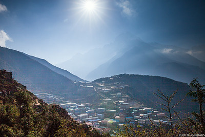 Sun over Namche