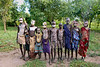 Our campground for three days was located a bit out of the town center, but it was visited almost all the time by people from the town who wanted to see the outsiders coming into their territory.  One of the traditions of the Surma tribe is the colorful body painting and adornments of the younger children.  These were some of the visitors to our campground.