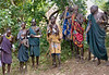 When our group reached the Surma village area we were met by a welcoming assembly of tribal people.  More people from the village joined in to treat us with singing and dancing.