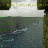 Cliffs of Moher from the tower in the rain