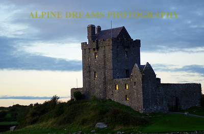Last light of day shines on Dungaire Castle