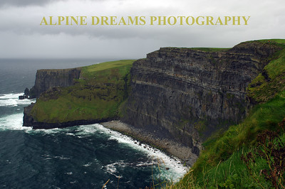Before the storm on the Moher