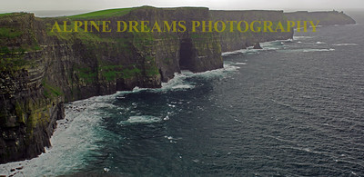 Lower view along the cliffs of Moher