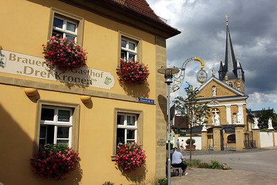 very common in Germany - church and brewhouse in close proximity