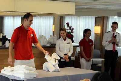 towel folding demonstration