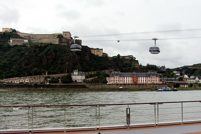 cable cars crossing the Rhine up to Ehrenbreitstein Fortress