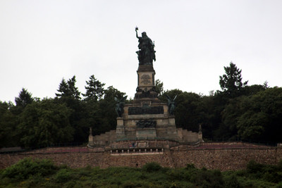 The Niederwalddenkmal monument, near Rüdesheim. It overlooks the valley of the Rhine and was built in the 1870/80s to commemorate the Unification of Germany.