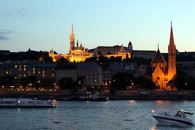 Matthias (L) and Calvinist (R) churches in Buda