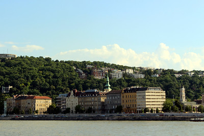 some of Buda, taken from our mooring in Pest
