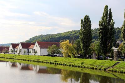 along the Danube after departing Regensburg