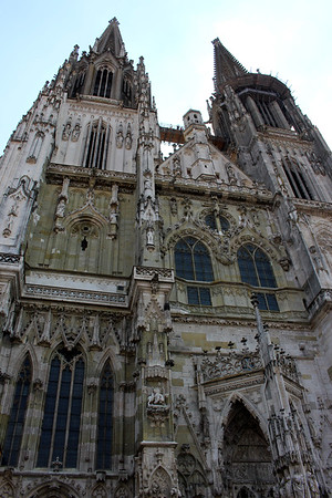 St. Peter's Cathedral has existed since about 700AD.  However, due to several devastating fires, the church was re-built and the current high-gothic-style building was completed in 1320.