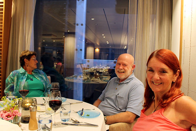 dinner time with Joan and Larry - retired physicians from Utah