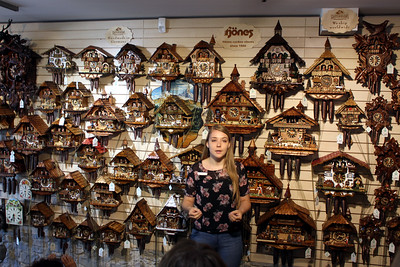 after leaving the cathedral we stopped at a Black Forest cuckoo clock shop for a demonstration