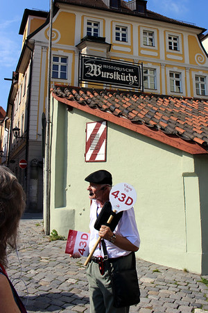 our guide for our walking tour