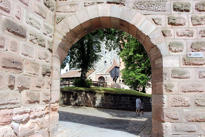 entering the imperial palace in old town Nuremberg