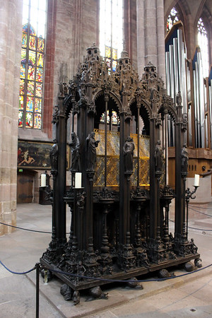 Shrine of St. Sebald (containing his relics) - the only Catholic Saint's remains in a Protestant church