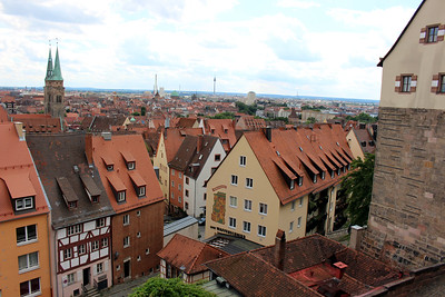 old town Nuremberg from the Imperial Palace grounds