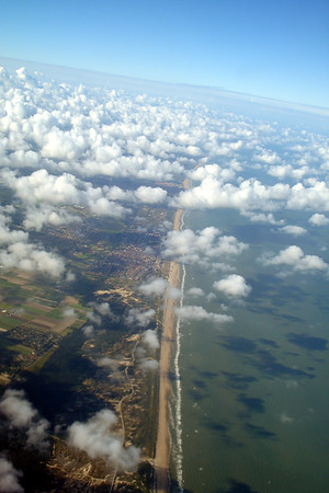 the coast of Holland and the North Sea