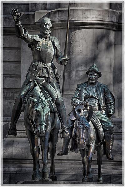 Don Quijote de La Mancha y Sancho Panza, Madrid, Spain