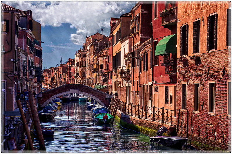 Tenements on the Canal, Venice, Italy