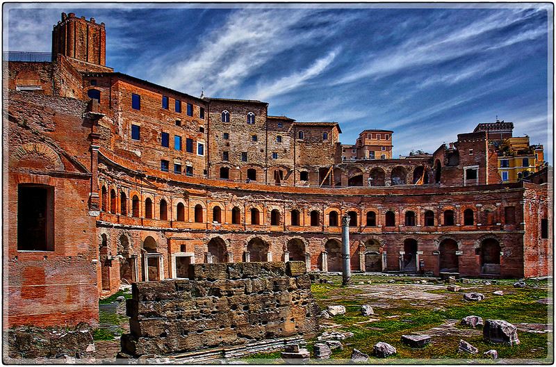 Ruins of the Old Coliseum, Southern Rome, Italy