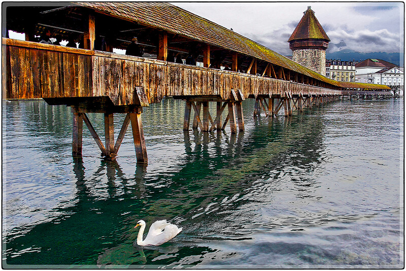 Wooden Covered Bridge, Lucerne, Switzerland