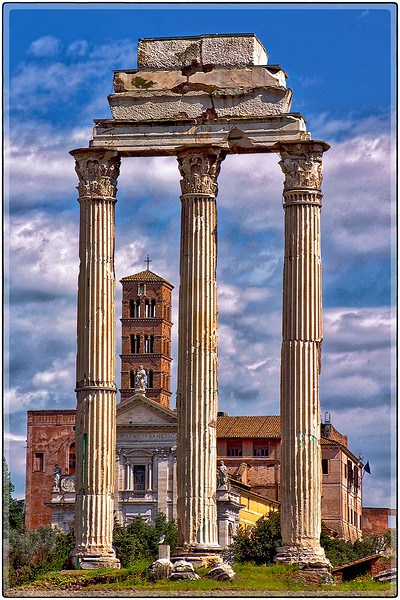 Roman Columns, Southern Rome, Italy