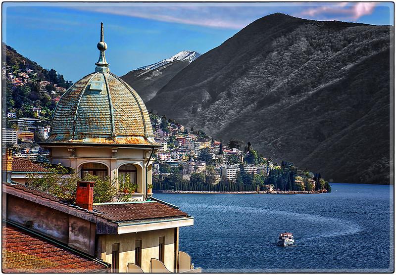Overlooking the Lake, Lugano, Switzerland