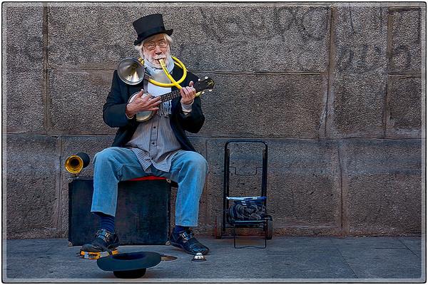 Street Kazoo Player, Madrid, Spain