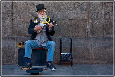 Street Kazoo Player, Madrid, Spain
