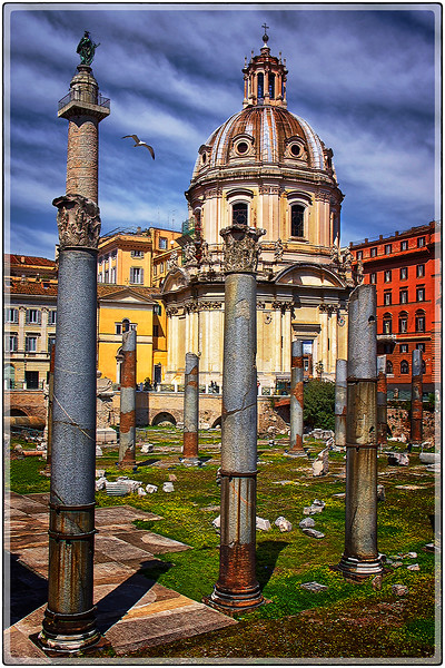 Sky and Ruins, Southern Rome, Italy