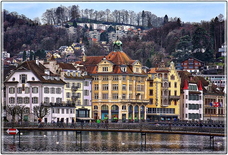 Medieval Architecture, Lucerne, Switzerland