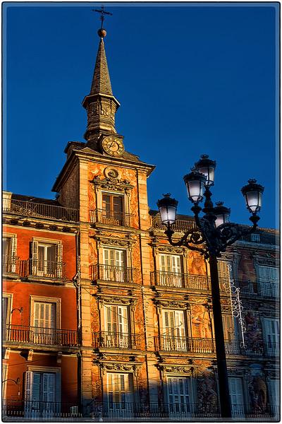 Clock Tower of La Plaza Mayor, Madrid, Spain