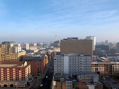 Good morning Birmingham from above Broad Street. January 2015.